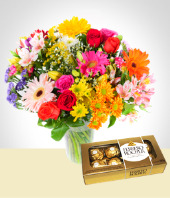 Flores - Bouquet Mixto y Chocolates