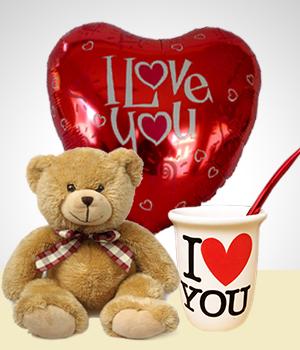 Combo amor amor mate peluche globo regalos para - Regalos especiales para san valentin ...